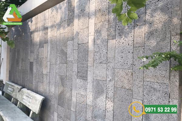 Mẫu đá ốp tường ong xám bền đẹp