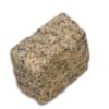 Đá cubic 10x10x8cm granite vàng Bình Định chẻ tay