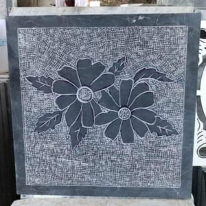Đá xanh đen băm hoa mai