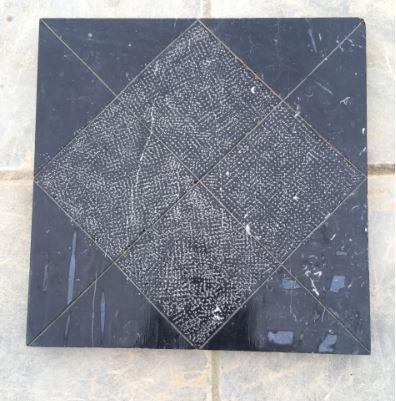 Đá xanh đen băm hình vuông