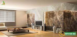 Đá ốp tường dùng trong phòng khách