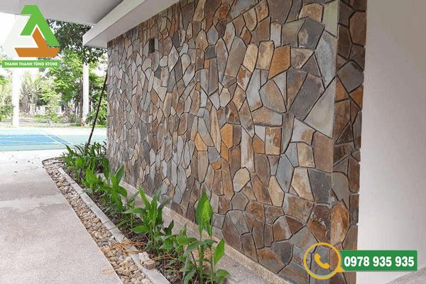 Mẫu đá ốp tường bền đẹp cho không gian ngoại thất tại Thanh Tùng Stone