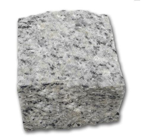 Đá cubic 10x10x8cm granite trắng suối lau chẻ tay