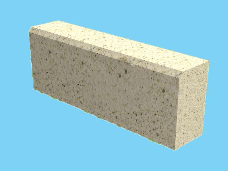 Đá bó vỉa granite vàng Bình Định 100x18x22cm vát cạnh