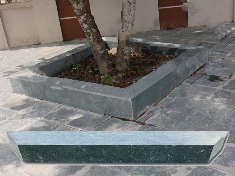 Đá bó gốc cây xanh rêu 10x15x100cm