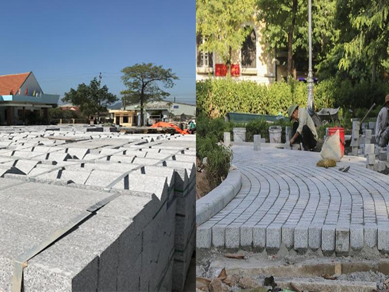 Bó vỉa granite trắng Phù Mỹ – Bình Định