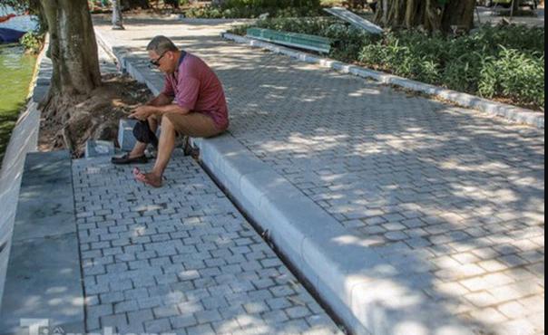 Đá bó vỉa granite tím hoa cà Bình Định