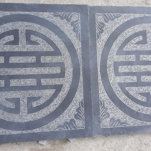 đá xanh đen băm hình chữ thọ