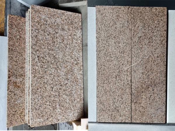 Đá granite vàng bình định khò lửa 300mm x 300mm x 20mm
