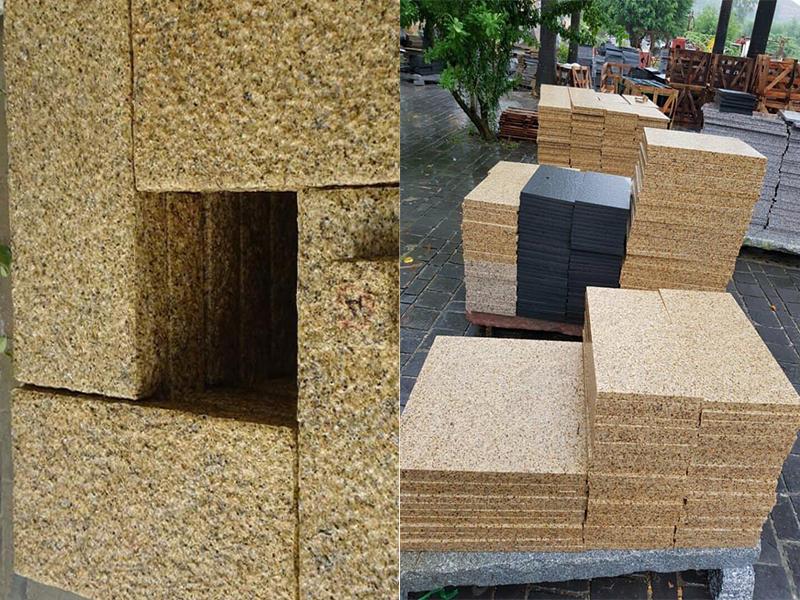 Đá granite vàng bình định khò nhám 600mm x 300mm x 20mm