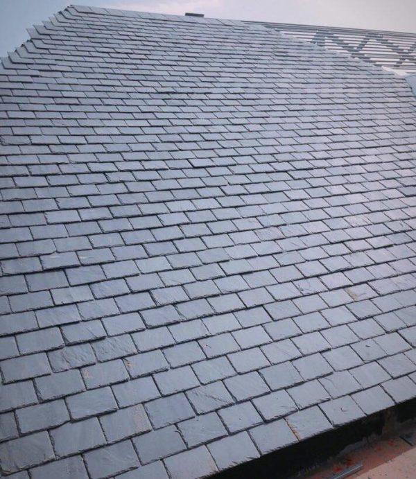 Ngói đá slate đen Lai Châu lợp mái hình chữ nhật