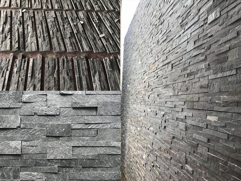 Đá ốp tường xám đen nbstone 06 (Đà Nẵng)