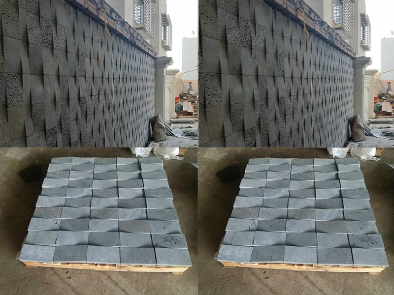 Đá ốp tường xám đen nbstone 18