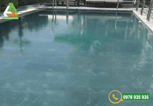 Mẫu đá ốp lát bể bơi xanh Thanh hóa mài
