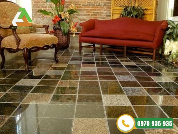 Đá granite tăng tính thẩm mỹ cho phòng khách
