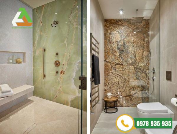 Đá marble trang trí phòng tắm