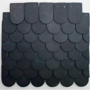 Ngói đá slate đen Lai Châu lợp mái hình vảy cá