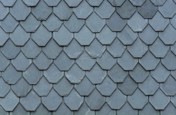 Ngói đá slate đen Lai Châu lợp mái hình lục giác