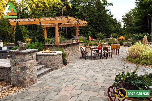 Đá lát sân vườn Thanh Tùng Stone với độ bền cao
