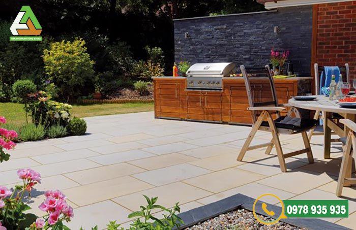 Lựa chọn đá lát sân vườn cho không gian biệt thự