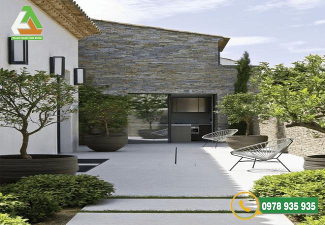 Đá chẻ ốp tường với chất liệu đá tự nhiên bền đẹp