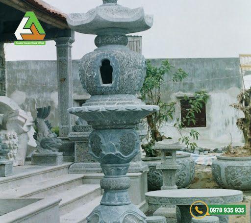 Sản phẩm đèn đá cho các khu lăng mộ làm từ đá xanh tự nhiên