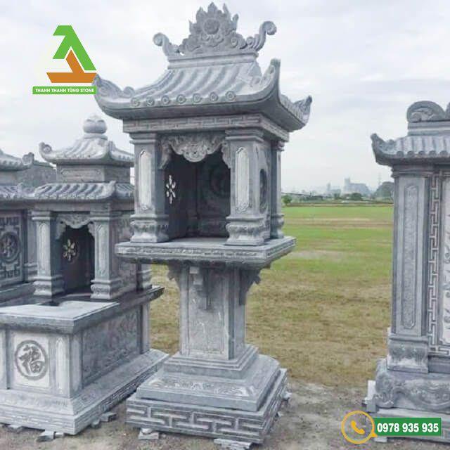 Mẫu bàn thờ thiên làm từ đá xanh nguyên khối