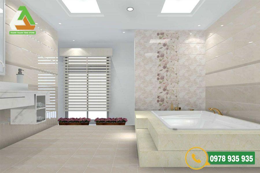 Mẫu đá ốp nhà vệ sinh granite tự nhiên
