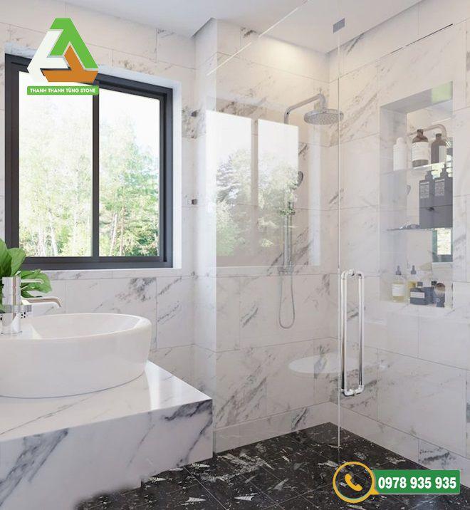 Mẫu đá ốp lát nhà vệ sinh marble độc đáo