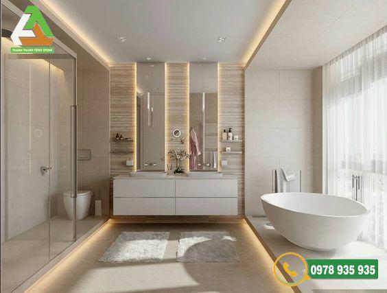 Đá ốp lát nhà vệ sinh sở hữu ưu điểm tuyệt vời