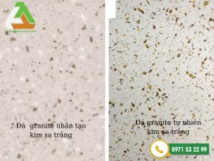 So sánh bề mặt đá tự nhiên và đá nhân tạo